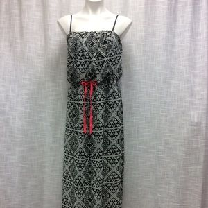 City Triangles Black and White Maxi Dress Size XL
